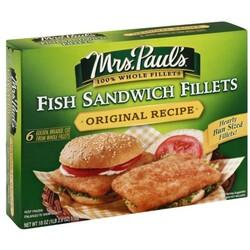 Mrs Pauls Fish Sandwich Fillets