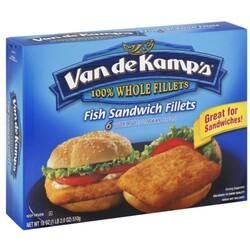 Van de Kamps Fish Sandwich Fillets