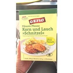 Gefro Pikante Pfanne Korn und Lauch Schnitzel