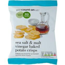 M&S Sea Salt & Malt Vinegar Baked Potato Crisps
