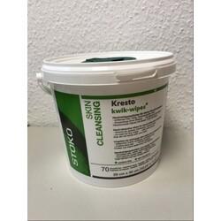 Stockhausen Kresto kwik-wipes®, Handreiniger zur Anwendung ohne Wasser, Eimer mit 70 Tüchern