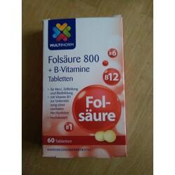 Folsäure 800 + B-Vitamine Tabletten