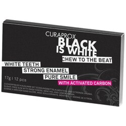 Curaprox Black Is White Kaugummi, 12 Stück