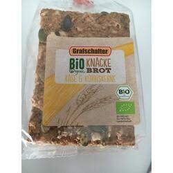 Grafschafter Bio Organic Knäcke Brot Käse & Kürbiskerne