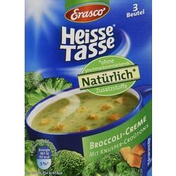 Erasco - Heiße Tasse - Broccoli-Creme-Suppe mit Knusper-Croûtons