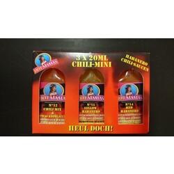 Hot Mamas Chili-Mini Saucen, 3 x 20 ml
