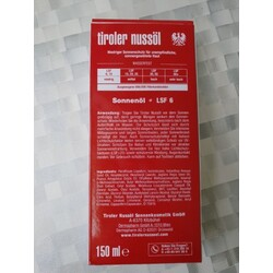 Tiroler Nussöl Sonnenschutz Sonnenöl 150.0 ml