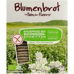 Blumenbrot -Le Pain de fleurs- Knusprige Bio Buchweizen-Schnitten