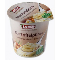 Lemar - Kartoffelpüree  (mit Zwiebeln, Croûtons & Schinken)