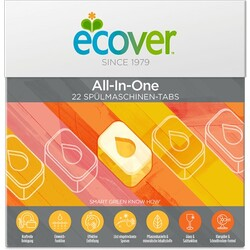 ECOVER 22 All-in-One Spülmaschinen-Tabs, 440 g