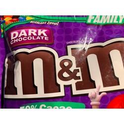 M&M's dark chocolate family size