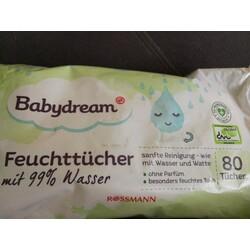 Babydream Feuchttücher mit 99% Wasser
