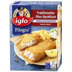 iglo – Filegro Traditioneller Ofen-Backfisch, 2 Stück