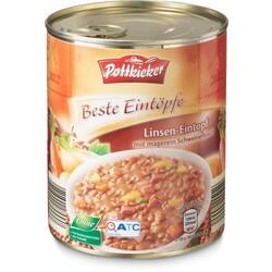 Pottkieker - Linsen-Eintopf (mit magerem Schweinefleisch)