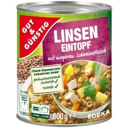GUT & GÜNSTIG - LINSENEINTOPF (mit 6% Schweinefleisch)