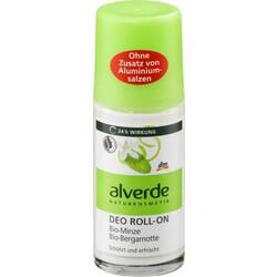 alverde NATURKOSMETIK Deo Roll On Deodorant Minze Bergamotte