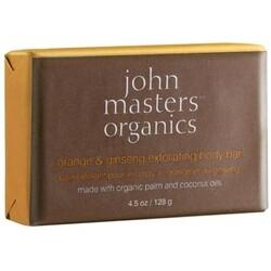 John Masters Organics JMO Skin & Body Care - Orange & Ginseng Exfoliating Body Bar (Seife  128ml)