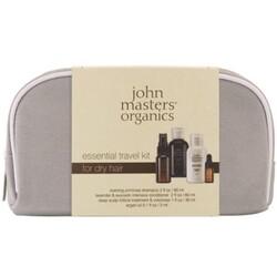 John Masters Organics Essential Travel Kit DRY HAIR mit Canvas Tasche