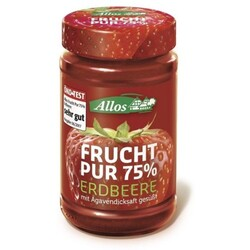 Allos Frucht pur 75% Erdbeere