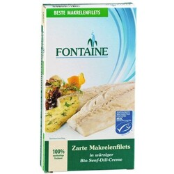 Fontaine Makrelenfilets in Senf-Dill-Creme