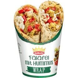 Falafel mit Hummus Wrap