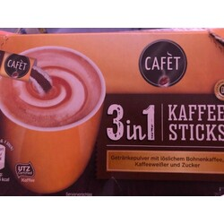 CAFÈT 3 in 1 Kaffeesticks