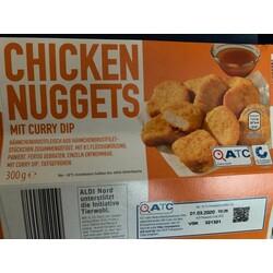 Checken Nuggets mit Curry Dip