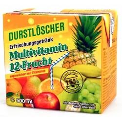 Durstlöscher – Multivitamin 12-Fruchtsaft aus Fruchtsaftkonzentrat