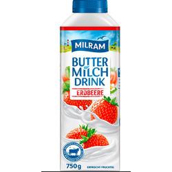 Milram - Buttermilch Drink Erdbeere