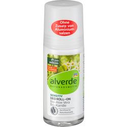 alverde NATURKOSMETIK Deo Roll On Deodorant Sensitiv Aloe Vera