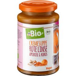 dmBio Cremesuppe Rote Linse, Aprikose & Kokos