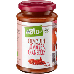 dmBio Cremesuppe Tomate & Cranberry