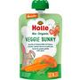 Holle baby food Quetschbeutel Veggie Bunny, Karotte, Süsskartoffel mit Erbsen ab 6 Monaten