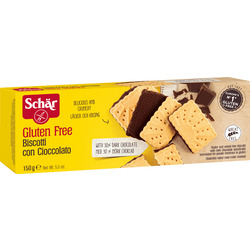 Schär Kekse, biscotti con cioccolato, mit Zartbitter-Schokolade, glutenfrei