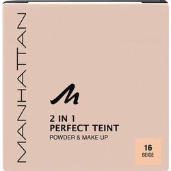 MANHATTAN Cosmetics Gesichtspuder 2in1 Perfect Teint Powder & Make-up Beige 16
