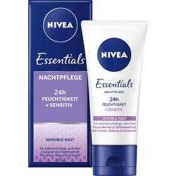 NIVEA Nachtcreme Essentials Feuchtigkeit & Sensitiv