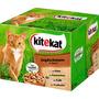 kitekat Nassfutter für Katzen, Jagdschmaus in Sauce, Multipack, 24x100g