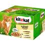 kitekat Nassfutter für Katzen, Geflügel-Allerlei in Gelee, Multipack, 24x100g
