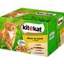 kitekat Nassfutter für Katzen, Meer und Land in Gelee, Multipack, 24x100g
