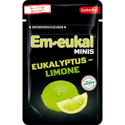 Em-eukal Bonbon Minis, Eukalyptus & Limone, zuckerfrei