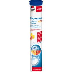 Doppelherz Magnesium 400 + Vitamine B6 + B12 + Folsäure Brausetabletten 15 St.