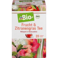 dmBio Früchte- & Kräuter-Tee Frucht & Zitronengras (20x2,5g)