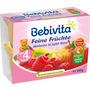 Bebivita Früchtebecher Feine Früchte Himbeere in Apfel-Birne 5M 4x100g