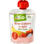 dmBio Quetschbeutel Birne-Erdbeere in Apfel  ab 1 Jahr, Demeter