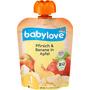 babylove Quetschbeutel Pfirsich & Banane in Apfel 1 Jahr