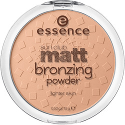 essence cosmetics Bronzer sun club matt bronzing powder lighter skin natural 01