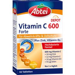 Abtei Vitamin C600 Forte Plus Tabletten 42 St.