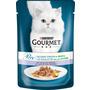 GOURMET Nassfutter für Katzen, Perle Erlesene Streifen mit Kalb und Gemüse