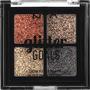 NYX PROFESSIONAL MAKEUP Lidschattenpalette Glitter Goals Cream Quad Palette Galactica 02
