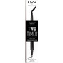 NYX PROFESSIONAL MAKEUP Eyeliner Two Timer Dual Ended Eyeliner Jet Black